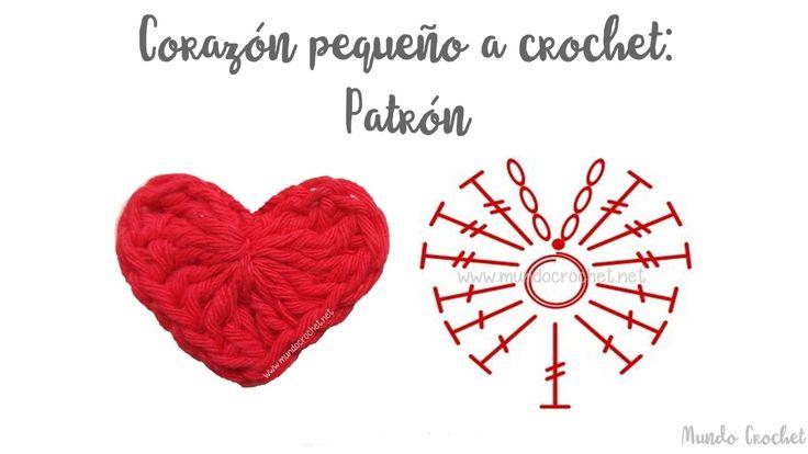 Corazón pequeño a crochet o ganchillo - Mundo Crochet