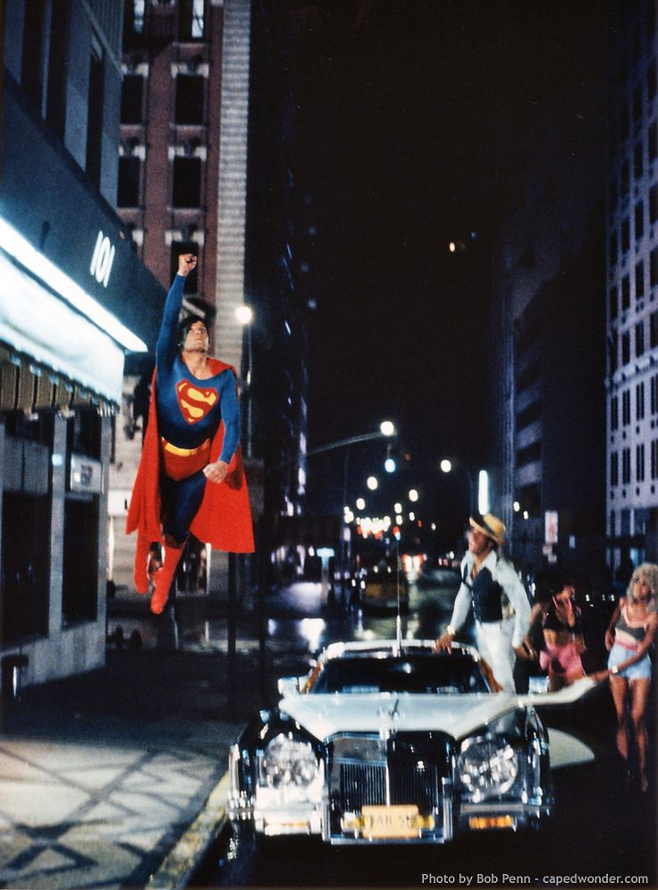 """Superman, 1978  """"Say, Jim! That is a bad outFIT! WOO!"""""""
