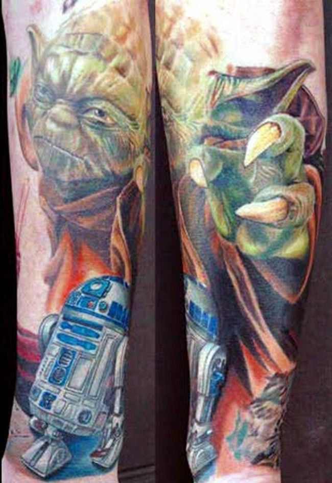 19ef8bf10 Nerd Tattoos (Pt. 3) – The Force is Strong with These Ones | Talk Nerdy  Tattoos To Me! | Star wars tattoo, War tattoo, Star tattoos
