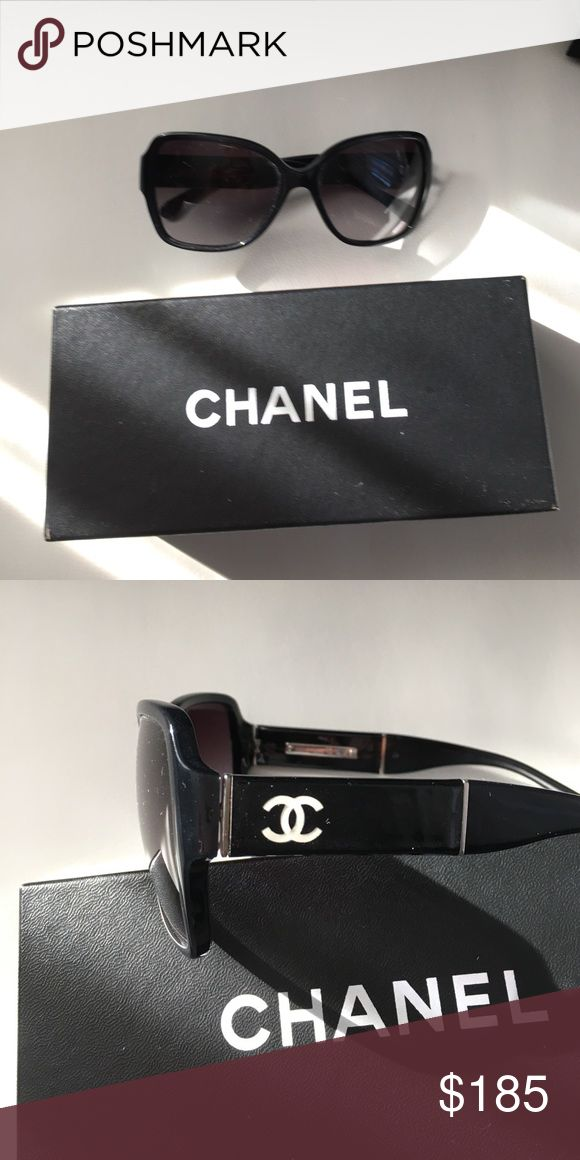 CHANEL sunglasses 🖤⚪️ Chanel sunglasses. Barely worn. This will come with just the Chanel case and proof of authenticity. HAPPY SHOPPING 🛍 CHANEL Accessories Sunglasses