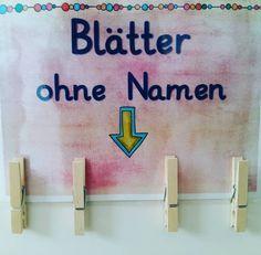 Damit Arbeitsblätter ohne Namen nicht mehr so viel Zeit rauben! Gesehen bei @grundschul_poppins Danke für die Idee! #Ref #Grundschule #klassenzimmer #katehadfielddesigns