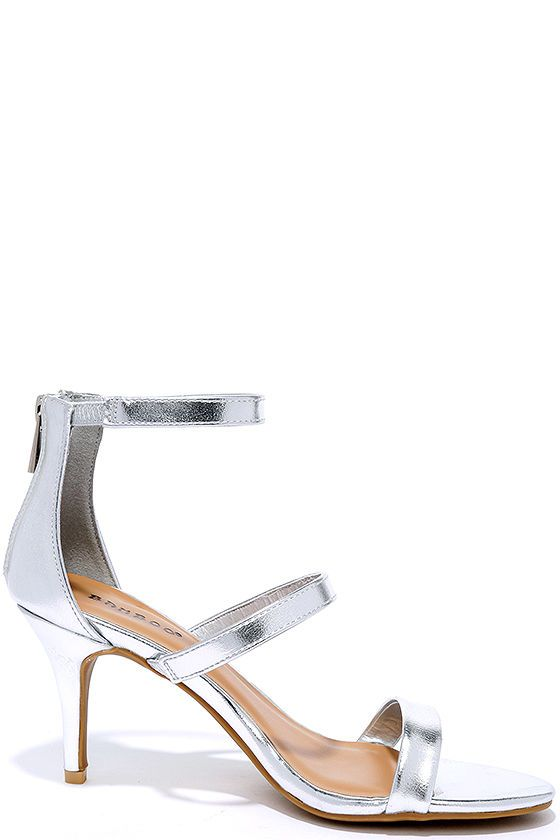 With a lower heel height, the Three-for-All Silver Kitten Heels are as sensible…