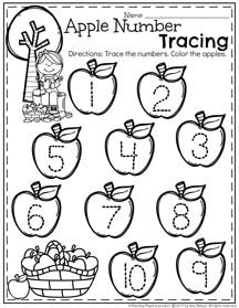 Number Tracing Worksheets for Preschool.