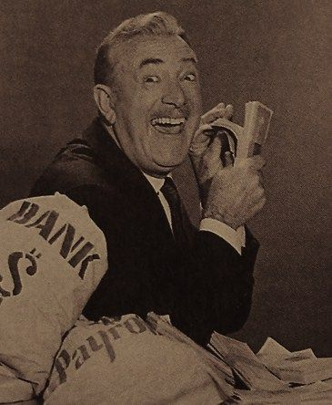 Millburn Drysdale counting his money....The Beverly Hillbillies