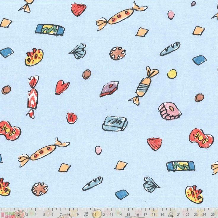 Roald Dahl - Lickswishy Sweets - cotton fabric