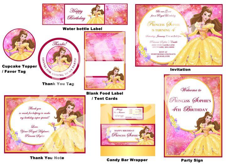 Disney Belle Party Package Beauty