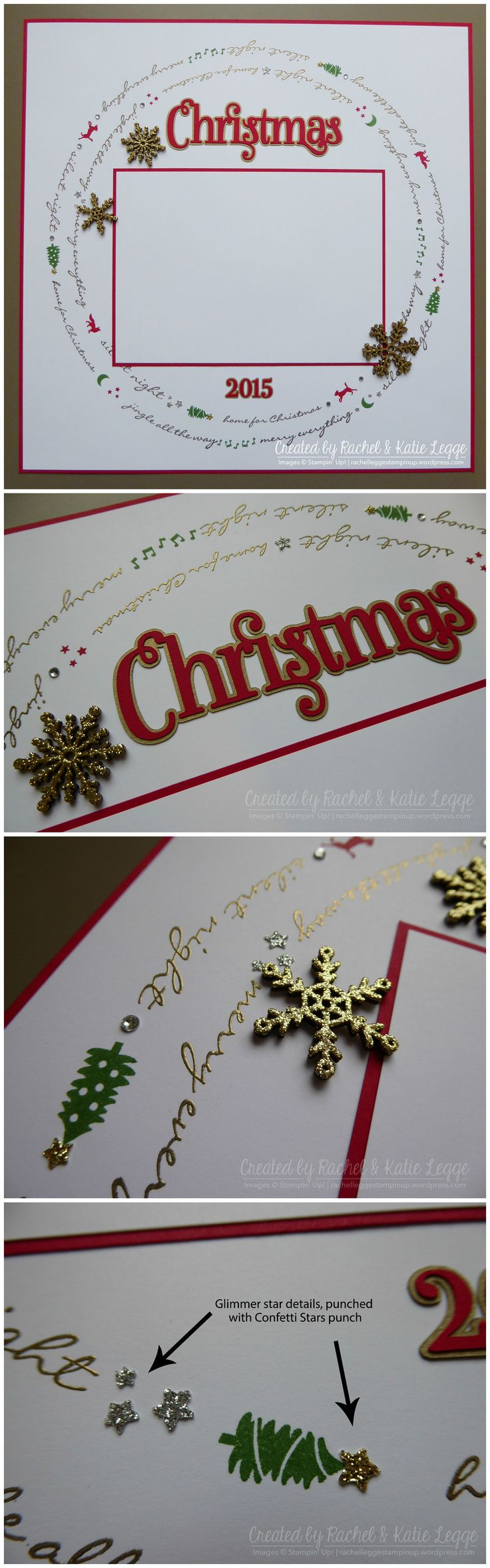 Stampin' Up! Jingle All the Way Christmas Scrapbook Layout Collage | Created by ...