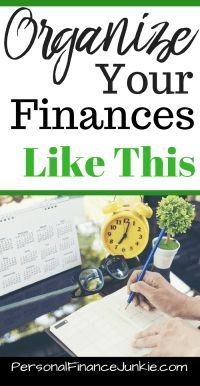 A 3 step guide to learn how to organize your finances for beginners. Three simple ideas to organize your finances. Use an electronic file, binder or file box. Free printable included. Organization ideas for your finances.  Learn how to organize your finan