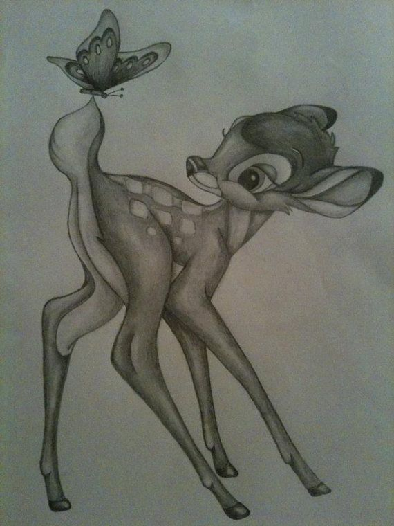 Growing up, Bambi was one of my favorite movies so this drawing really stood out to me. The expression in Bambi's face is great