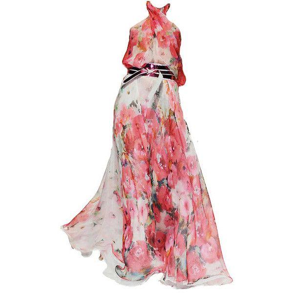 Talbot Runhof ❤ liked on Polyvore featuring dresses, gowns, vestidos, haljine, talbot runhof, talbot runhof evening gowns, talbot runhof gowns and talbot runhof dresses