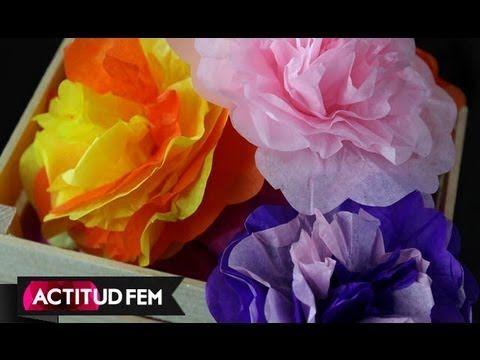 DIY // HTM Flores de papel de china, cómo hacerlas