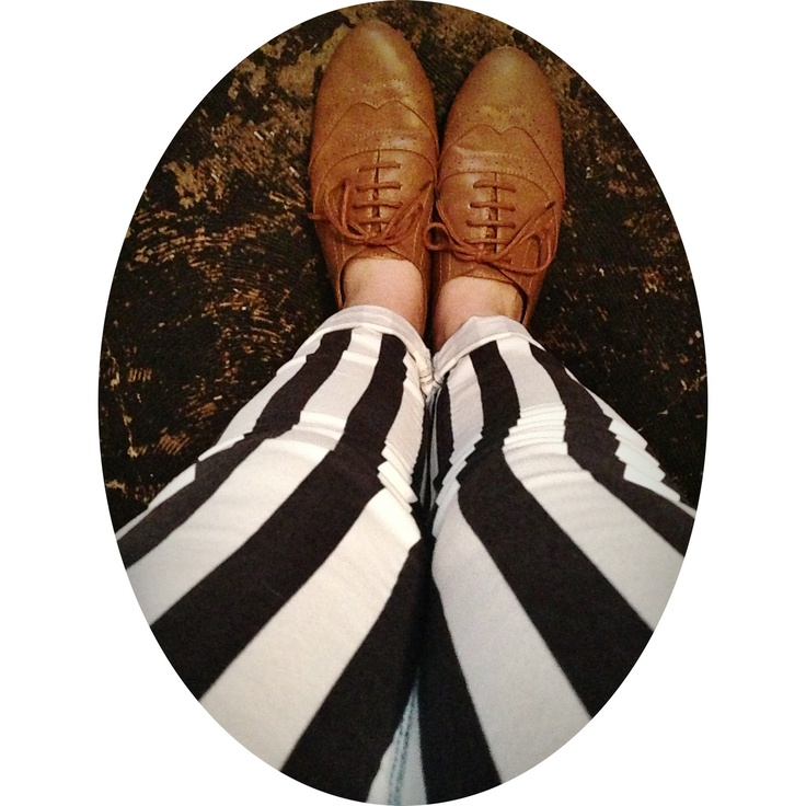 pants clothes black and white striped pants oxfords things wear