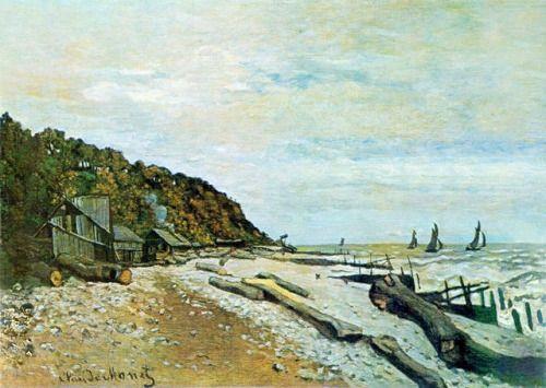 artist-monet:Boatyard near Honfleur via Claude Monet