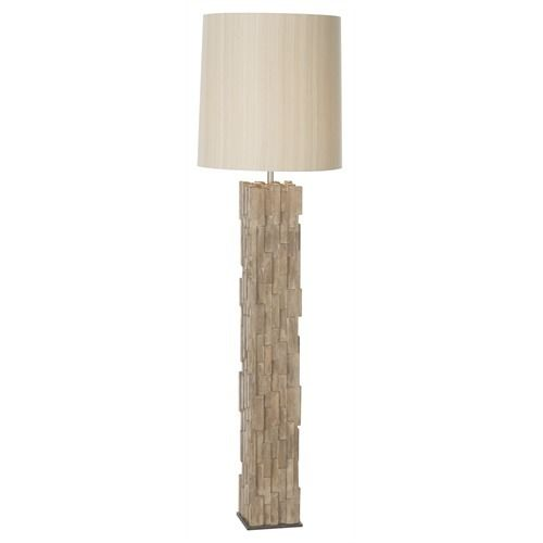 Gavin Natural Wood Mosaic Floor Lamp - Arteriors - $1,092.00