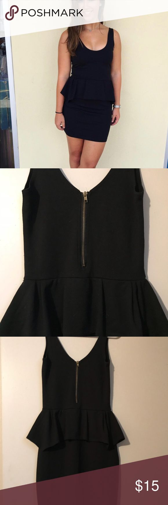 American eagle like Peplum dress size small Black peplum dress Size small For reference I'm 5'2 115lbs Dress is NOT American eagle but AE does indeed sell the same exact dress Dresses