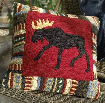 Cinnamon Moose Pillow