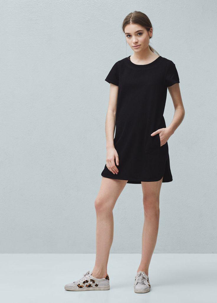 Pocket denim dress - Dresses for Women | MANGO USA