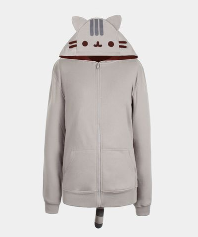 Pusheen the Cat costume hoodie... ok this <3 a bit pricey but WAY cute! i want  to swim in it so XL would be best!