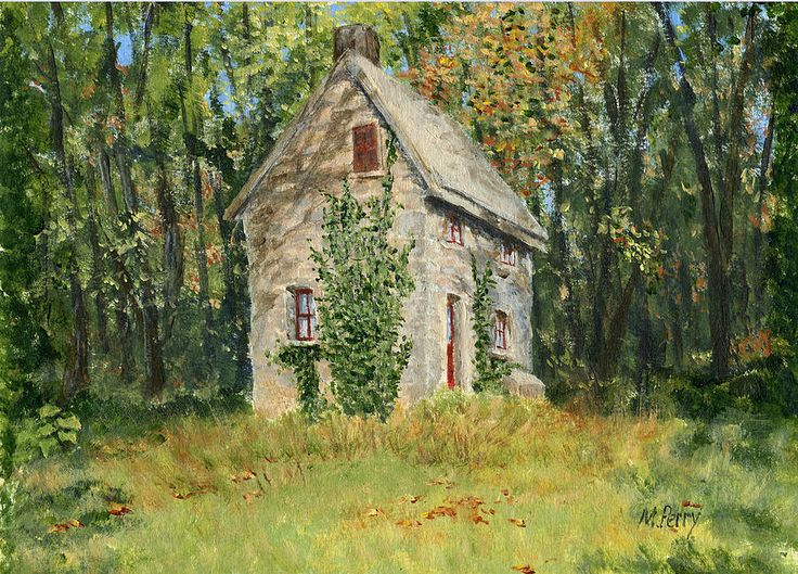 Cottage In The Woods At Fonthill Painting