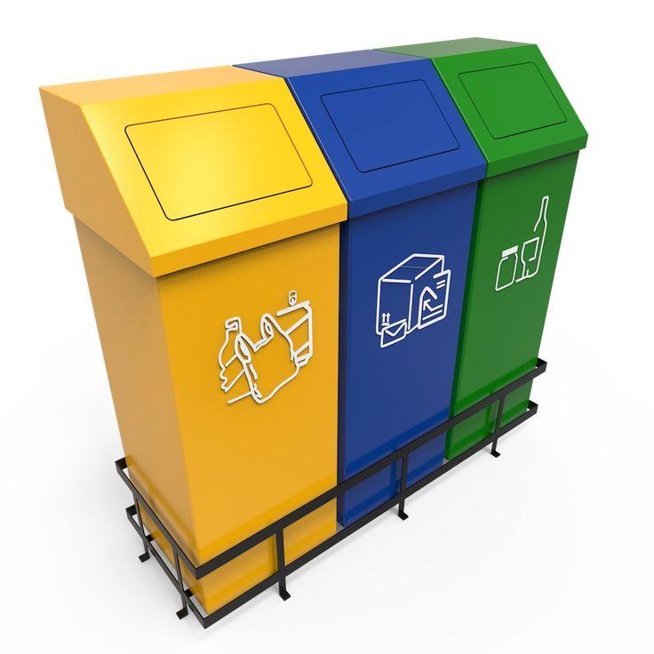 Vejle Collecteur poubelle modulaire tri sélectif 50L