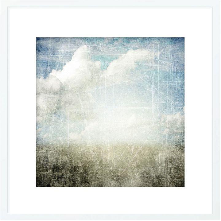 The Canvas Workshop Horizon Falls Framed Print, White Frame 85x85cm