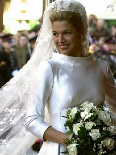 Queen Maxima on her wedding day Febr.2, 2002