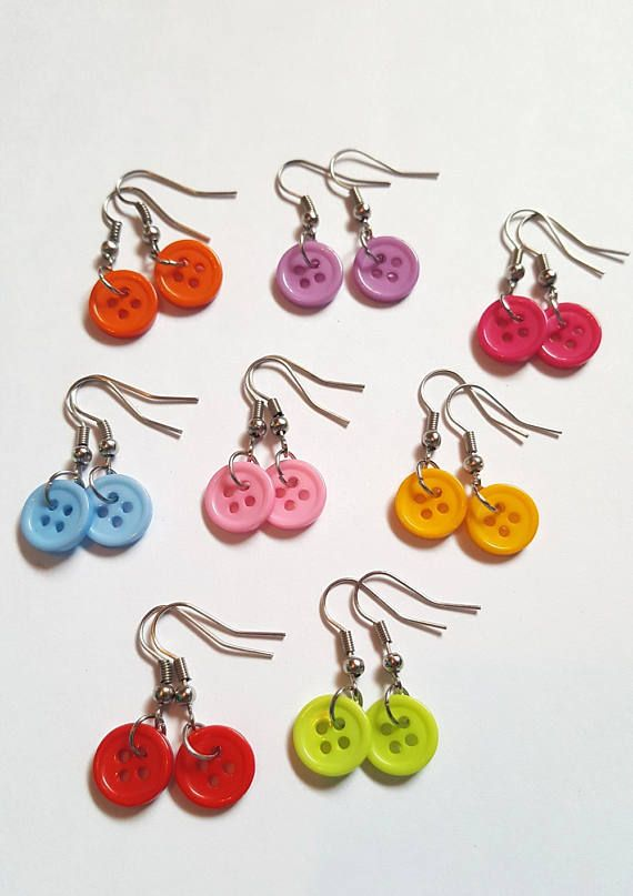 Candy earrings in their pouch halloween jewelry original fun earrings polymer dough creation