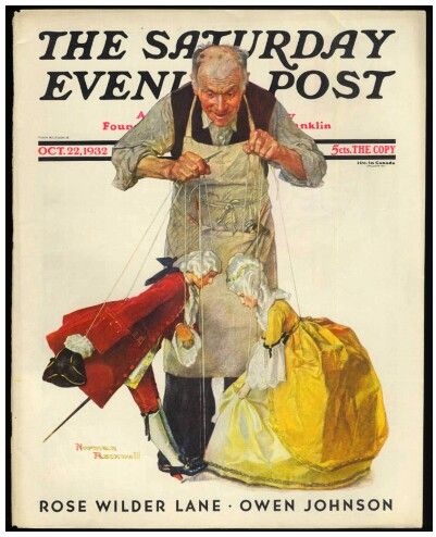 """Norman Rockwell: """"The Puppeteer"""" - (1932)"""