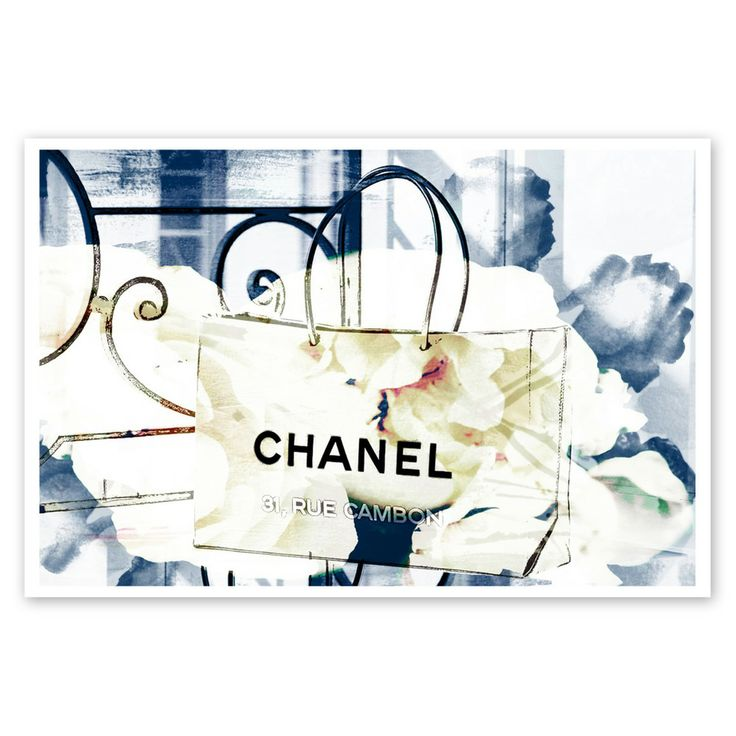 An Iconic Shopping Bag | 33x48cm Art Print by Oliver Gal on THEHOME.COM.AU