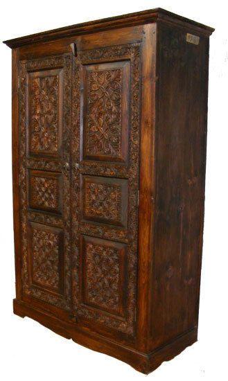 Luxury antik look orient Massiv Kleiderschrank Schrank wardrobe Afghan bauernschrank