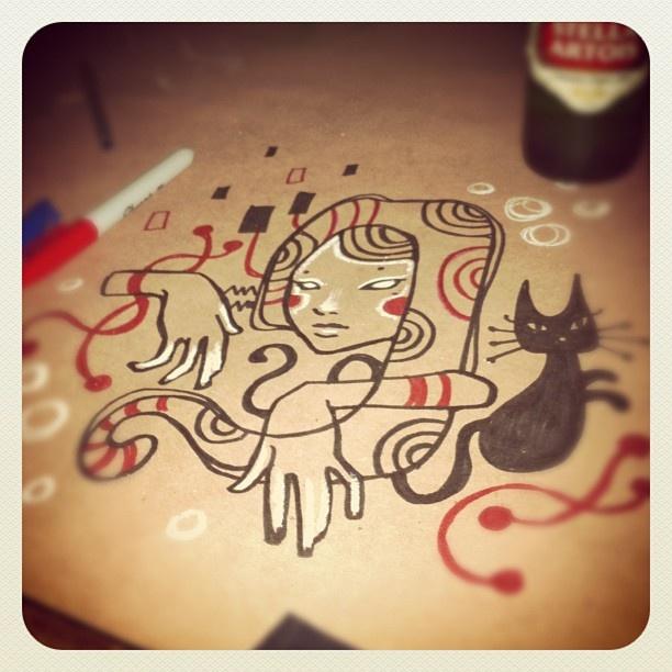 Audrey Kawasaki sketchpartying