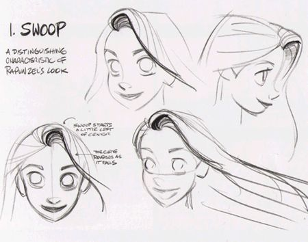 "findingcorona: ""An homage to Rapunzel's hair. Concept art by Glen Keane. """