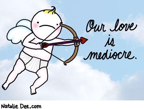 Natalie Dee comic: VW mediocre love *