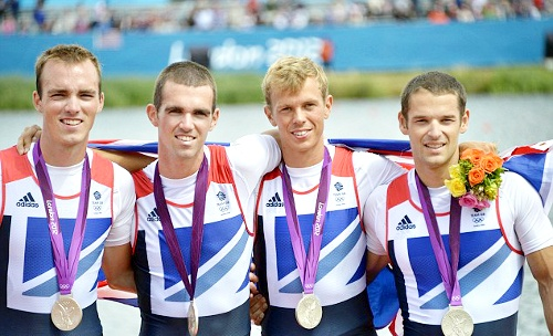 Team GB Medals 2012  15. Men's Lightweight Four Team (Chris Bartley, Richard Chambers, Rob Williams and Peter Chambers) - SILVER  (Rowing: Men's Lightweight Four)