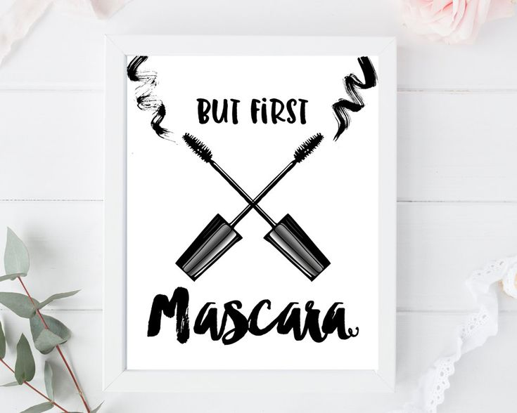 But first mascara, mascara print, bathroom print, mascara, makeup print, makeup wall art, make up, printable quote, typography art print, by AdornMyWall on Etsy