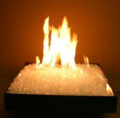 Smokeless portable propane fire pit perfect for outdoor patio tables, or custom fire pit tables.