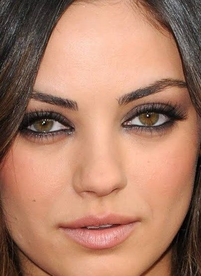 mila kunis makeup | Tumblr. ~ I wish I looked like her...or at least my eye makeup would turn out like hers! Lol. She is gorgeous! :)
