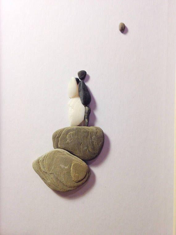 Pebble Art Picture 11 x 14 Framed Pebble Art Couple