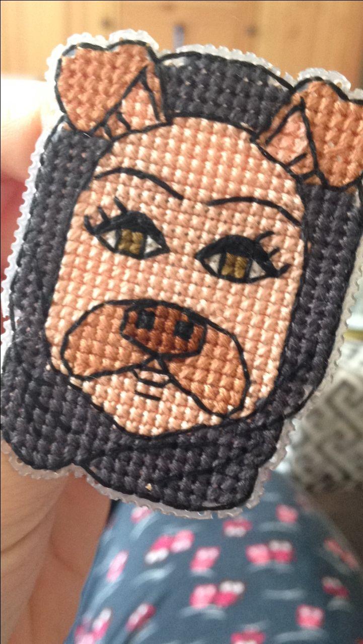 Cross stitch snapchat doggy