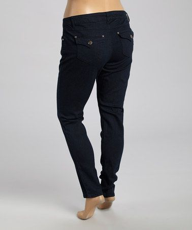 Look what I found on #zulily! Midnight Blue Skinny Pants - Plus #zulilyfinds