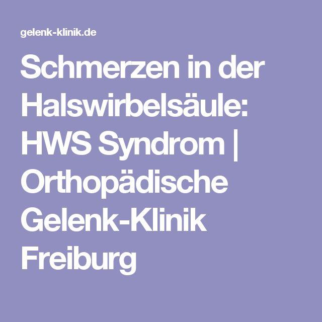 Schmerzen in der Halswirbelsäule: HWS Syndrom   Orthopädische Gelenk-Klinik Freiburg
