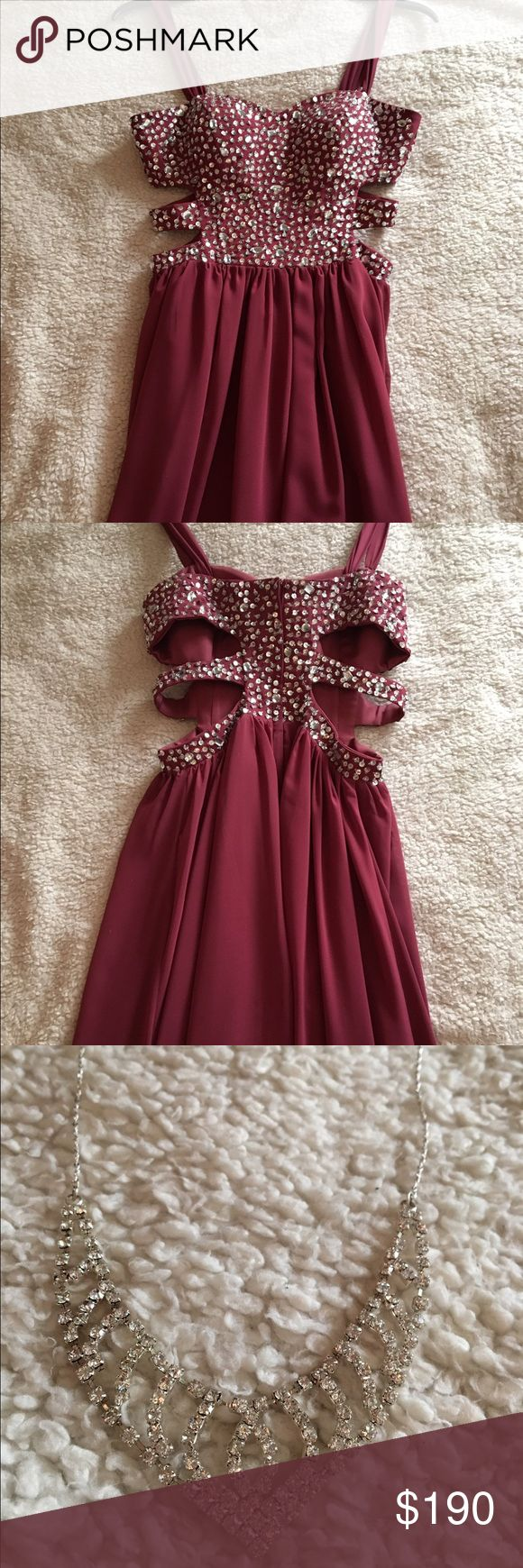 Maroon Prom Dress Worn twice and in great shape!:) Necklace comes free! Dresses Prom