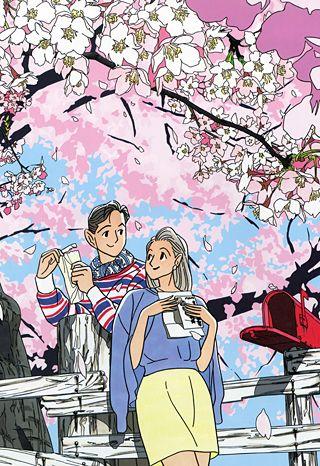 【函館】わたせせいぞう 桜と愛燦燦のまん丸お花|まん丸のお花【函館ブログ】