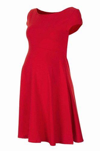 Vestido premamá en rojo de Top Shop