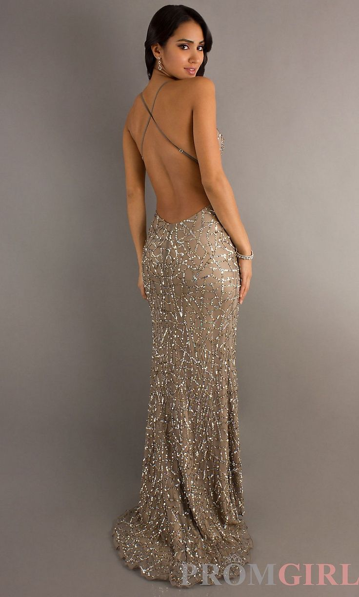 cadc22dbc47d Bague de mariage   Backless Sequin Gown by Scala Tenue Correcte Exigée