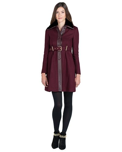 Rosalie 61916 Runway Italian Wool and Fur Coatby Badgley Mischka - SALE $299.00