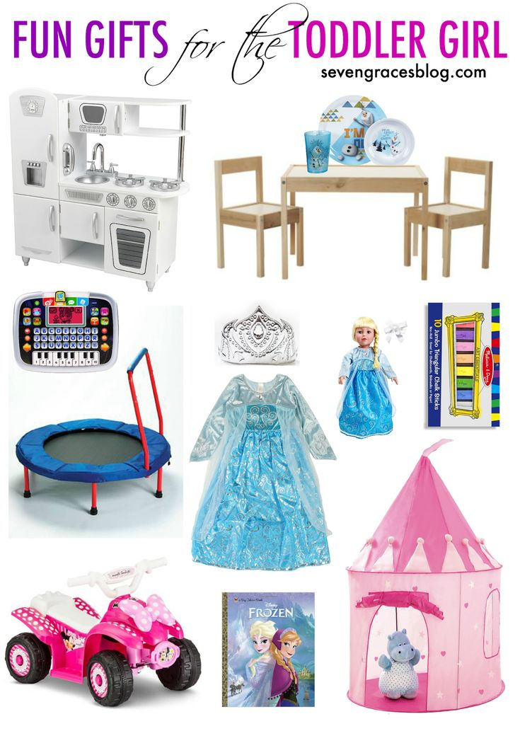 Seven Graces: Fun Gifts for the Toddler Girl. Best birthday gift ideas for the two-year-old toddler girl. Great gift options for the toddler to keep them entertained. #christmasgiftguide #toddlergifts #toddlergirlgifts #christmaswishlist