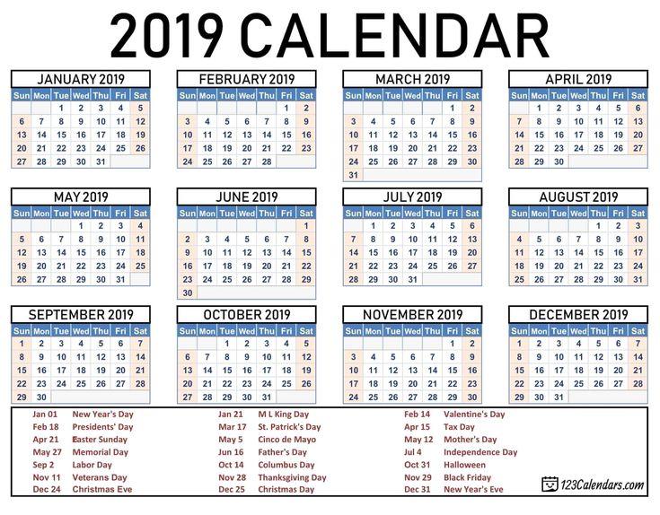 2019 2020 school year calendar template year 2019 printable calendar templates 123calendars com