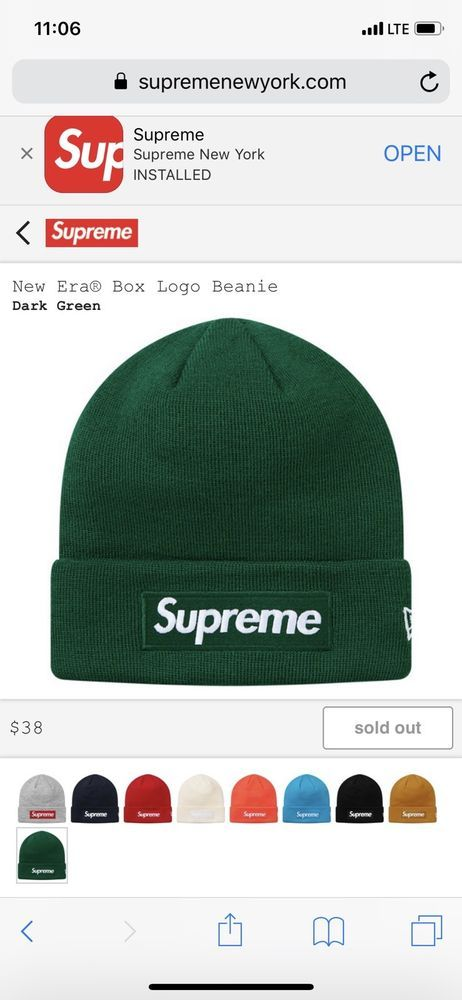 d2e630c5 Supreme FW18 New Era Box Logo Beanie #fashion #clothing #shoes #accessories  #mensaccessories #hats (ebay link)