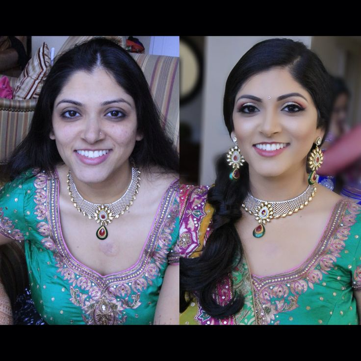 Bridal Makeup Pictures Before And After : Indian Wedding Makeup Before And After - Mugeek Vidalondon